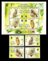 2011 - Wwf Owls Sheet + Single Set - Iran - Iran