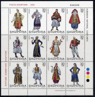 ALBANIA 2002 Regional Costumes III Sheetlet MNH / **.  Michel 2846-57 - Albania