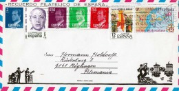 Schmuckbrief Spanien 1982 - Schöne 7 Fach Frankatur Auf Großem Schmuckbrief Mit Flamenco-Tänzerin - 1981-90 Briefe U. Dokumente