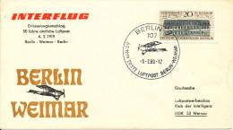 Germany DDR Interflug flight Berlin - Weimar 50th Anniversary 6-2-1969