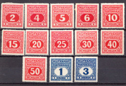 BOSNIA,BOSNIEN 1916-PORTO MH , MICHEL 24,26 MNH