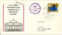 Germany DDR Interflug first flight Berlin - Kiew 5-6-1966