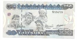 Nigeria 50 Naira 1991 Pick 27B UNC .S. - Nigeria
