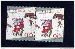 CANADA, 1996  # 1629, UNICEF & CHRISTMAS   PAIR  MNH - Carnets