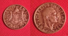 REGNO COLONIA  ALBANIA  RE ZOG SHQIPNI 1 FRANCO 1935 ARGENTO - Albanie