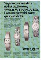 1970 - Orologio Wyler VETTA Incaflex - Inserto Pubblicità Di 2 Pagine Cm. 13 X 18 - Orologi Da Polso