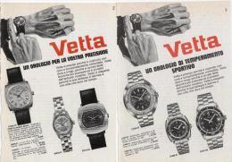 1970 - Orologio VETTA -  2 Pagine Pubblicità Cm. 13 X 18 - Orologi Da Polso