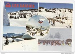 H317 73 COL DES SAISIES MULTI VUES TELESIEGE STATION ...1987 TIMBRE CACHET - Non Classés