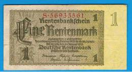 ALEMANIA - GERMANY -  1 Retenmark 1937  KM173 - [ 3] 1918-1933 : República De Weimar