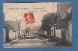 CPA - LE TREMBLAY Le VICOMTE / VICONTE - Rue Grande - Mercier Quetin éditeur - Berger Et Ses Moutons - 1911 - France