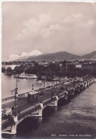 Geneve Année 1935 ** Belle Cpa-photo Plate Et Rigide **  Pont Mt Blanc -  Ed. Jeager N°8033 - GE Genève