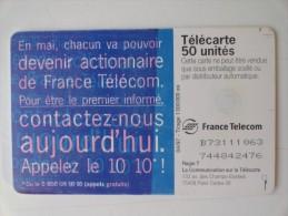 RARE : IMPRESSION & COULEUR !! SUR 10 10 PRIVATISATION TÉLÉPHONE - France