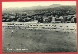 CARTOLINA VG ITALIA - RIMINI - Veduta Aerea - 10 X 15 - ANNULLO 1956 - Rimini