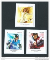 CANADA, 2014, # 2705-6-7 PIONEERS Of WINTER SPORTS: B. A. SCOTT(1948), S SCHMIRLER (1998), SARAH BURKE (2014)  Singles 3 - Carnets
