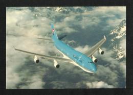 Korea Airlines Picture Postcard Airplane Korean Air B747 View Card - Korea, North