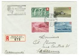 Suisse /Schweiz/Svizzera/Switzerland/ Lettre Recommandée Pour Lausanne (bureau De Poste Automobile Foire Philatélique Ro - Storia Postale