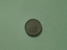 1956 TS - 1 Krona / KM 826 ( Uncleaned Coin / For Grade, Please See Photo ) !! - Suède