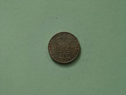 1965 U - 1 Krona / KM 826 ( Uncleaned Coin / For Grade, Please See Photo ) !! - Suède