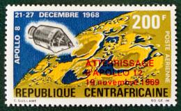 APOLLO VIII 1970 - SURCHARGE ROUGE  - NEUF ** - YT PA 83 - MI 215 - RARE ! - Centrafricaine (République)