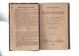 C.RAFFY.Nouvelles Répétitions écrites D'histoire Et De Géographie.cartes & 18 Tableaux.XII-XII-156-228-91-110 Pages.1866 - Livres, BD, Revues