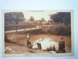 SAMATAN  (Gers)  :  Le  PONT  DULAC  Sur Le Canal     1936 - Sonstige Gemeinden