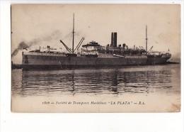 "Carte 1915 Société De Transports Maritimes ""la Plata"" - Cargos"