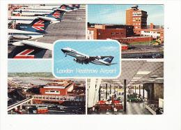 "Carte 1970 Aéroport : ""london Heathrow Airport"" (angleterre) - Aerodrome"