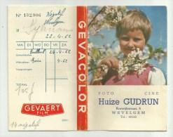 Pochette De Photos (vide)  *  Gevaert Film  (Foto Gudrun, Wevelgem) - Photographie