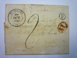 Lettre Au Départ De  ST  SERNIN  à Destination D'ALBY   1844 - 1801-1848: Precursores XIX