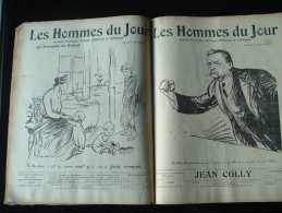 """JOURNAUX  Poulbot  Lot  22n Brochés  Des """"hommes Du Jour """" Aout àdécembre 1910  Illustrateur Delannoy Et Poulbot - Autres"""