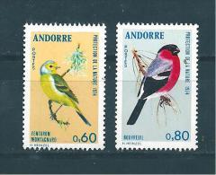 Andorre Timbre De 1974    N°240 Et 241  Neuf ** Sans Charnière - Neufs