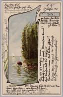 AK MOTIV KÜNSTLER 1902-04-23 Heidelberg See Idylle #6 J.L.Stern - Illustrateurs & Photographes