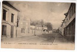 """SAINT-NOM-LA-BRETÈCHE --1904-- La Grande-Rue Par La Grêle  N°4 éd A.D  Paris--cachet Ambulant"""" ..à Mantes Plaisir"""" - St. Nom La Breteche"""