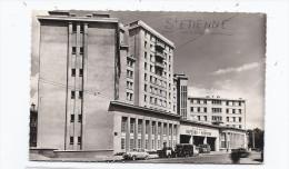 CPSM 42 - SAINT-ETIENNE - La Caserne Des Pompiers - TB PLAN De L'Edifice Avec AUTOMOBILES Et VEHICULES Devant - Brandweer
