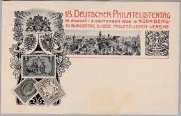 AK MOTIV BRIEFMARKEN ??? Nürnberg 18.Deutscher Philatelistentag Foto Biede - Timbres (représentations)