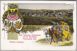 AK MOTIV BRIEFMARKEN 1912-08-01 XXIV Deutscher Philatelistentag Marktrdwitz 1912 Foto Stolze - Timbres (représentations)