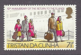 Tristan Da Cunha 1973 - 10th Anniversary Return To The Islands After The Eruption, Ship Bornholm, Schiff, Travelers MNH - Tristan Da Cunha