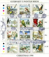 GUERNSEY 1990 SHEET With BIRDS CTO - Oiseaux