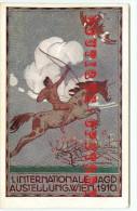 RARE < ILLUSTRATEUR C. HESSHAIMER - EXPOSITION WIEN 1910 - TIR à L´ARC < CHASSE Au OISEAU - CHASSEUR & LICORNE - Illustrateurs & Photographes