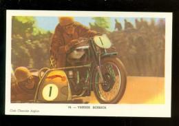 Chromo ( 3604 )  Moto  Motokoers  Motosport Motorfiets :  Vander Schrick  -  Chocolat L´ Aiglon - Aiglon
