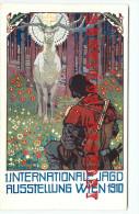 RARE < ILLUSTRATEUR F. KRENN - EXPOSITION WIEN 1910 - CHASSE Au RENNE à L´ARBALETE - CHASSEUR - Illustrators & Photographers