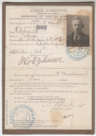 Carte D'identité Pensions Et Rentes Viagères - Rue De La Fontaine Du Bert 75018 Paris - FRANCO DE PORT - Vieux Papiers