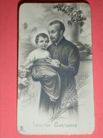 NB - 1391 - Sanctus Gaetanus /S.GAETANO Da THIENE - SantIno Monocromo  - Data A Matita 1952 - Santini