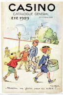 Publicité 1998,  CASINO, Sous Forme De Grande Carte Postale Sur Métal, Dessin De POULBOT - Plaques Publicitaires
