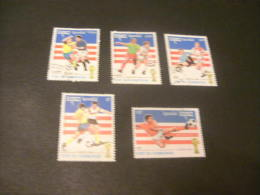 K9656- Set Used Cambodge -1992 - Worldcup Soccer-football 1994- USA - World Cup