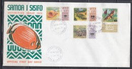 Samoa 1972 Definitive, Moth, Shell, Insect Etc FDC - Butterflies