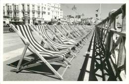 Deckchairs, Brighton, Sussex, England Postcard Unposted - Brighton