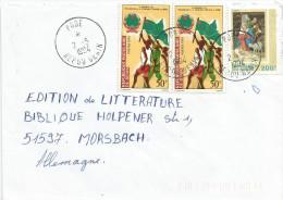 Benin 1994 Pobe Revolution Flag 50f Michel 43, Christmas 200f Michel 501 Old Values Pre-overprint Cover - Benin – Dahomey (1960-...)