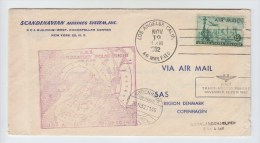 USA S.A.S. FIRST EXPLORATORY POLAR FLIGHT COVER 1952 - Stamps