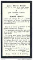 UDANGE ..-- Albert GRAAS , Né En 1899 , Décédé à GUBEN , ALLEMAGNE ,en 1917 . - Images Religieuses